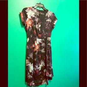 Vera Wang Black floral midi